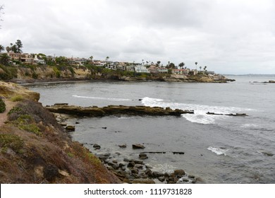 La Jolla view in San Diego, California on a cloudy day