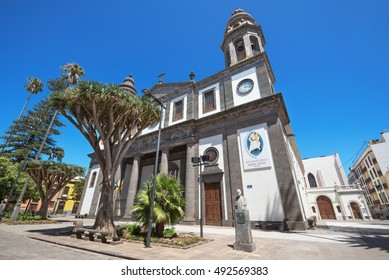 LA LAGUNA, SPAIN - AUGUST 13: San Cristobal de la Laguna Cathedral on August 13, 2016 in Tenerife, Canary island, Spain.