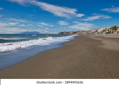 La Malagueta beach in Malaga (Spain)