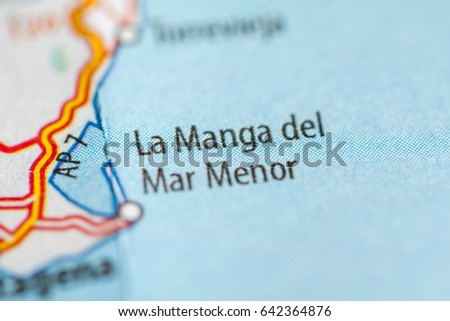 Map Of Spain La Manga.La Manga Del Mar Menor Spain Stock Photo Edit Now 642364876