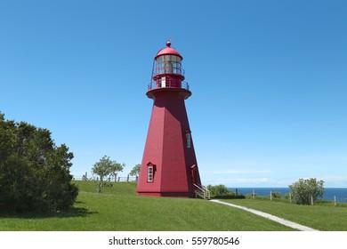 La Martre Lighthouse, Gaspe Peninsula, Quebec, Canada