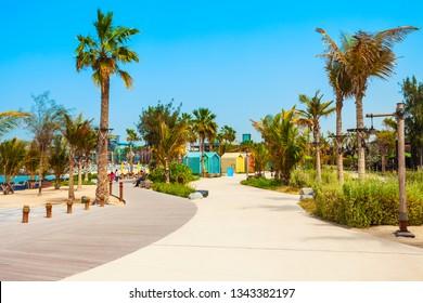 La Mer or Jumeira beach is a public beach in Dubai city in UAE