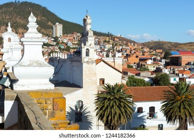 La Merced church from the rooftop of San Felipe de Neri Monastery, Sucre, Bolivia