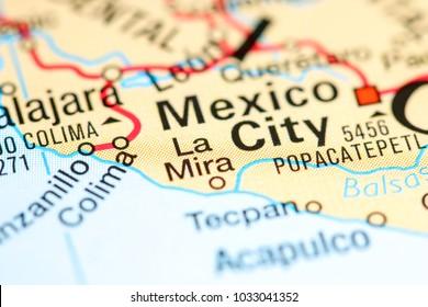 La Mira. Mexico on a map