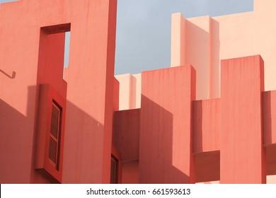 La Muralla Roja, del arquitecto Ricardo Bofill, en Calpe, España