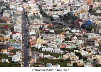 La Palma city sky view