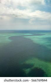 La passe en S. Mayotte. France, océan Indien