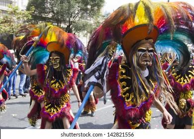 LA PAZ, BOLIVIA - MAY 12: Musicians at La Paz Carnival in Bolivia, declared UNESCO Cultural World Heritage. May 12, 2011 in La Paz, Bolivia