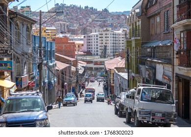 La Paz, Bolivia - september 29, 2018:  Panoramic view of La Paz, in Bolivia. La Paz is the highest capital in the world.