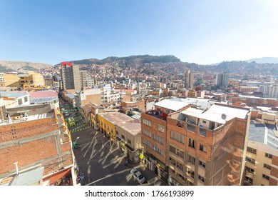 La Paz, Bolivia - september 30, 2018:  Panoramic view of La Paz, in Bolivia. La Paz is the highest capital in the world.