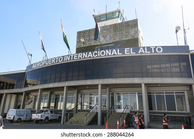 LA PAZ - MAY 6: El Alto Airport on May 6, 2015 in La paz, Bolivia. Located at an altitude of 4008 meters, El Alto is the highest international airport in the world