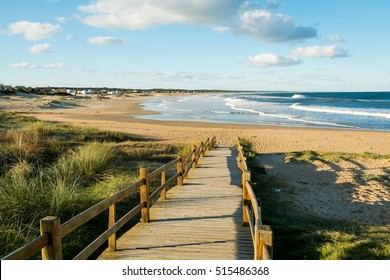La Pedrera beach and bay on a sunny summer day, Uruguay, South America