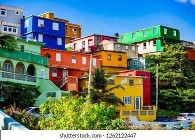 La Perla beautiful district in Old San Juan at sunrise