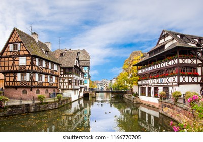 La petite france alsace in summer , Strasbourg France