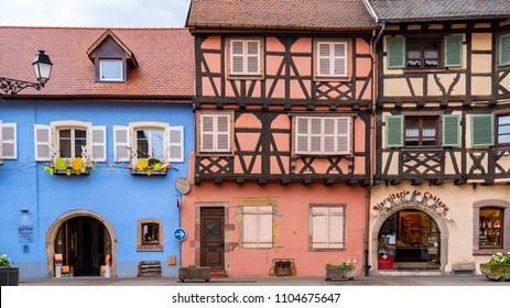 La Petite Venise, half-timbered medieval and early Renaissance buildings, Colmar, Alsace, France April 16 2018