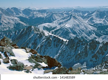 La Plata Peak, Ellingwood Ridge, Rocky Mountains Colorado, USA