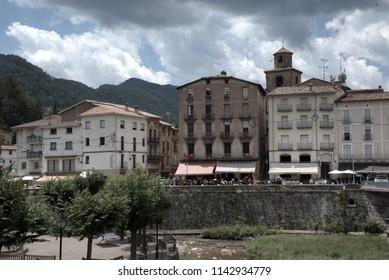 La Pobla de Lillet. An old town.