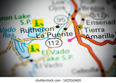 La Puente. New Mexico. USA on a map