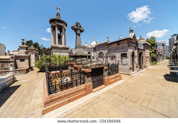 La Recoleta Cemetery  located in the Recoleta neighbourhood of Buenos Aires, Argentina.