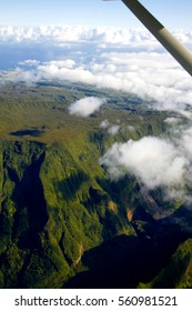 La Reunion island seen from a microlight aircraft, French Overseas department (Indian Ocean)