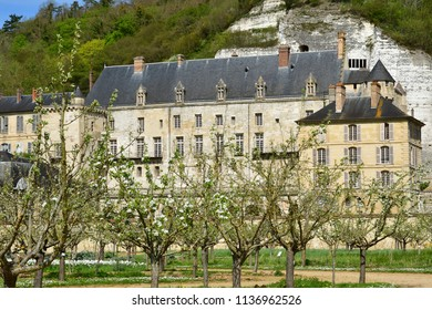 La Roche Guyon; France - april 17 2018 : the castle