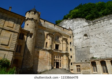 La Roche Guyon, France - june 27 2018 : the historical castle