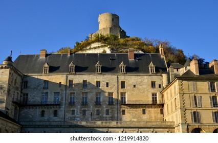 La Roche Guyon, France - november 1 2015 :the castle