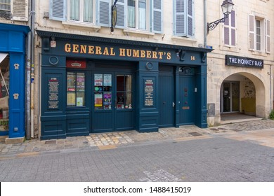 La Rochelle, France - May 07, 2019: The Irish pub General Humbert's in the town centre, La Rochelle, France