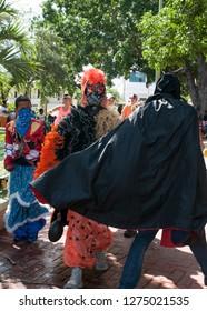 La Romana, Dominican Republic-February 28 2017: dominican carnival