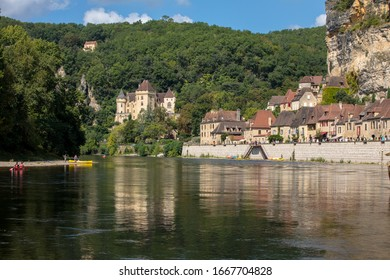 La Roque-Gageac, Dordogne, France - September 7, 2018: La Roque-Gageac scenic village on the Dordogne river, France