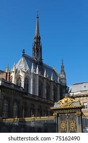 La Sainte-Chapelle (The Holy Chapel) is a Gothic chapel on the Ile de la Cite in the heart of Paris, France.