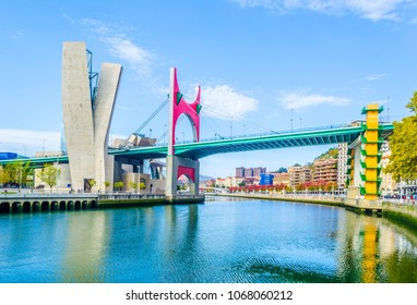 La salve zubia bridge in the spanish city Bilbao