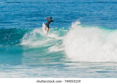 La Santa is a good place for bodyboarding and surfing. Lanzarote. Canary Islands. Spain