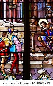 La Saussaye, France - mach 30 2017 : the Saint Louis collegiate church
