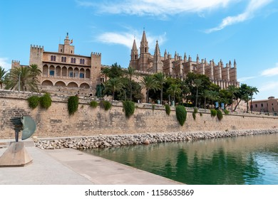 La Seu, the Cathedral of Santa Maria of Palma, and Royal Palace of La Almudaina - Palma de Mallorca, Balearic Islands, Spain