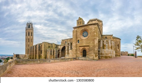 La Seu Vella cathedral at Lleida, Spain