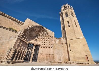 La Seu Vella cathedral in Lleida, Catalonia, Spain.