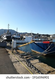 la spezia italy 14 february 2021 a view of the harbour