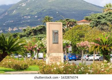 La Spezia, Italy - July 9, 2019: Monument to the Fallen Aviators for the Fatherland (Monumento agli Aviatori Caduti per la Patria)