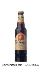 "La Trappe Trappist Beer Bottle Isolated White Background  ""illustrative editorial"""