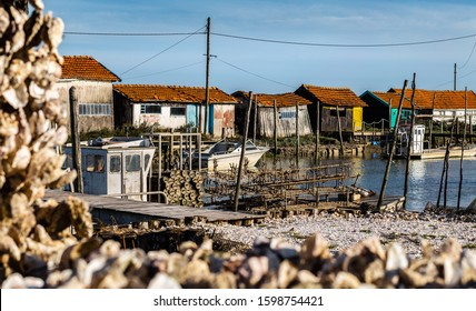 La Tremblade, Oyster farming harbour in Charente Maritime, France