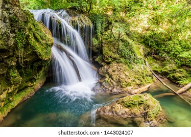La Vaioaga waterfall encountered while trekking on the Nera Gorges during summer, Romania