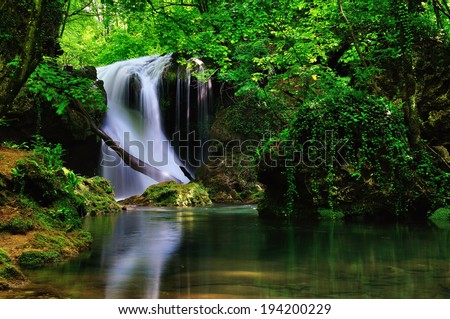 La Vaioaga waterfall,Cheile Nerei national park,very beutiful water scape