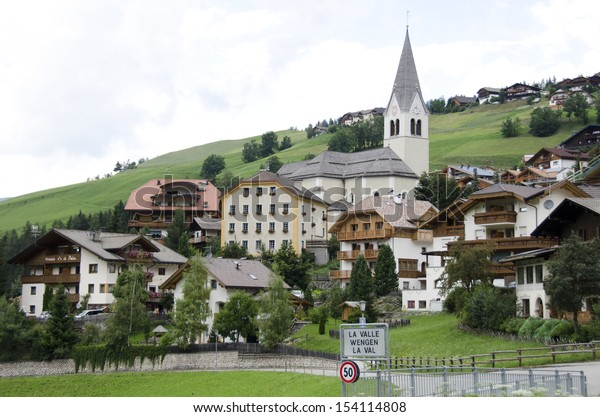 La Val Village, Alta badia, Dolomites, South Tyrol, Italy