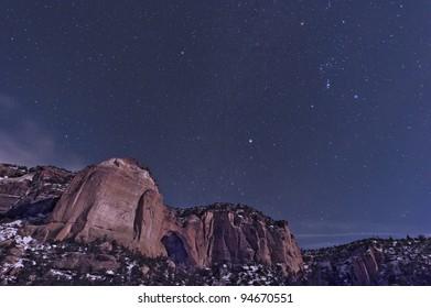 La Ventana Arch with Orion constellation