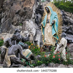 La Villa, CDMX / Mexico - Dec 2009 The site of the apparition of Our Lady of Guadalupe, Sculpture illustrative