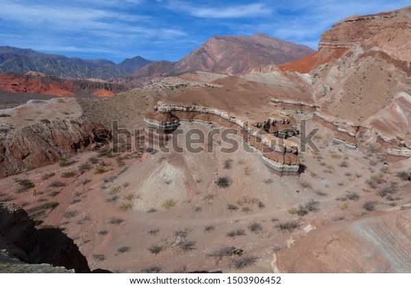 La Yesera rock formation in Quebrada de las Conchas near Cafayate, Argentina