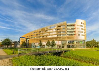 Laan der continenten, Alphen aan den Rijn, South Holland, Netherlands, August 23, 2019: Living and working Da Vinci Building