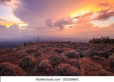 Laan Hin Pum Viewpoint at Phu Hin Rong Kla National Park, Phitsanulok Province, Thailand.