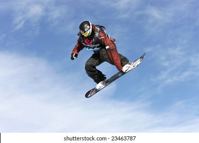 LAAX, SWITZERLAND - JANUARY 16: Shaun White, USA, competing at the Burton European Open Snowboarding Championships on January 16, 2009 in Laax, Switzerland.